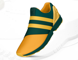Adidas FX Flux Slip On Green and Gold 1