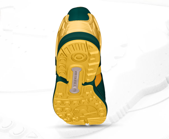 Green & Gold - Adidas ZX Flux Slip On - Premium