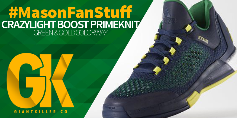 2015 Crazylight Boost Primeknit Shoes George Mason Green Gold header