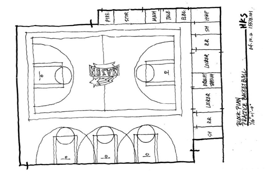 2012 George Mason Basketball Practice Facility Floor Plan PRACTICE ONLY