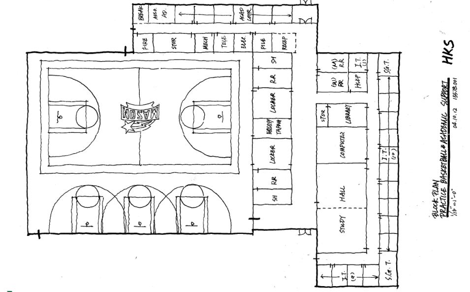 A look at the old proposed mason basketball practice for Basketball floor plan