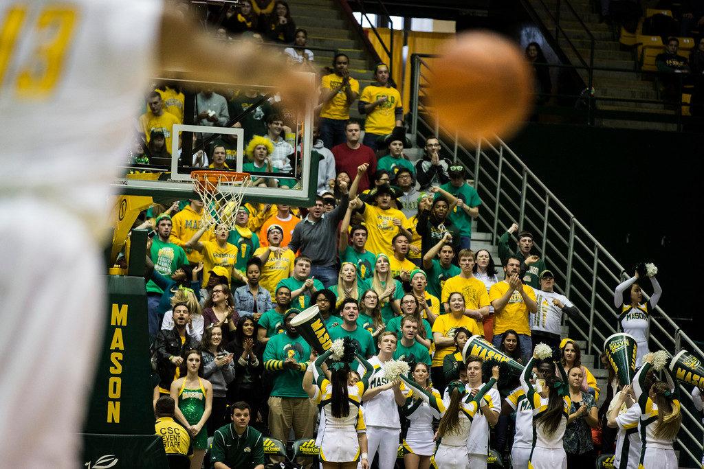 crowd george mason basketball