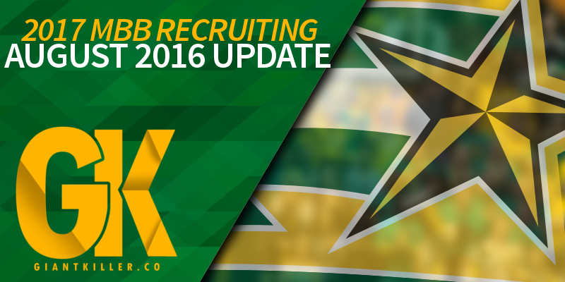 RECRUITING UPDATE AUGUST 2016
